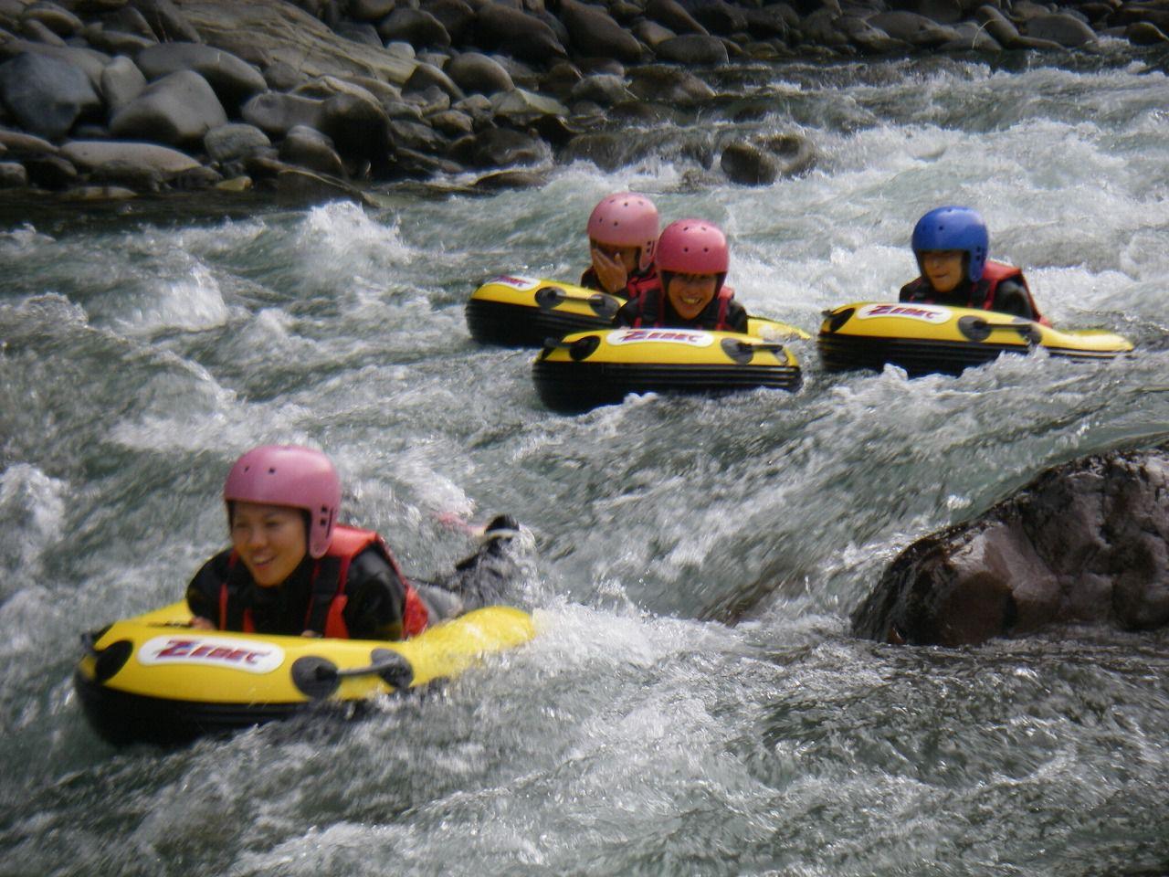 ハイドロスピード水上利根川激流コースハイドロスピードみなかみ 半日体験コース 午前の部