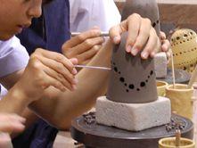 【陶芸体験 八幡野窯】ランプシェード作りランプシェード作り★9:30