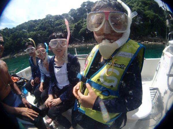 ボートで行くシュノーケリング遊び 天草うしぶかノンビリコース午前コース