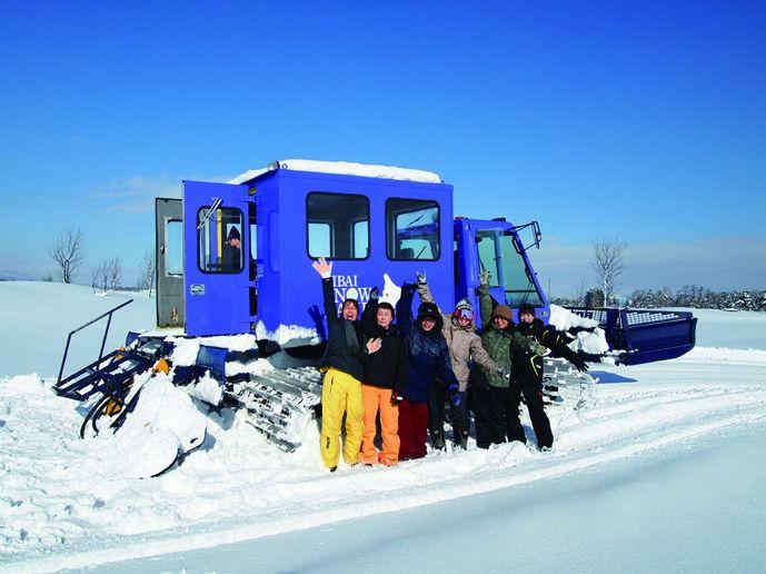 <北海道・スノーアクティビティ>スノーキャビン(圧雪車)ツアー/GOLFカントリー美唄コーススノーキャビン(圧雪車)ツアー