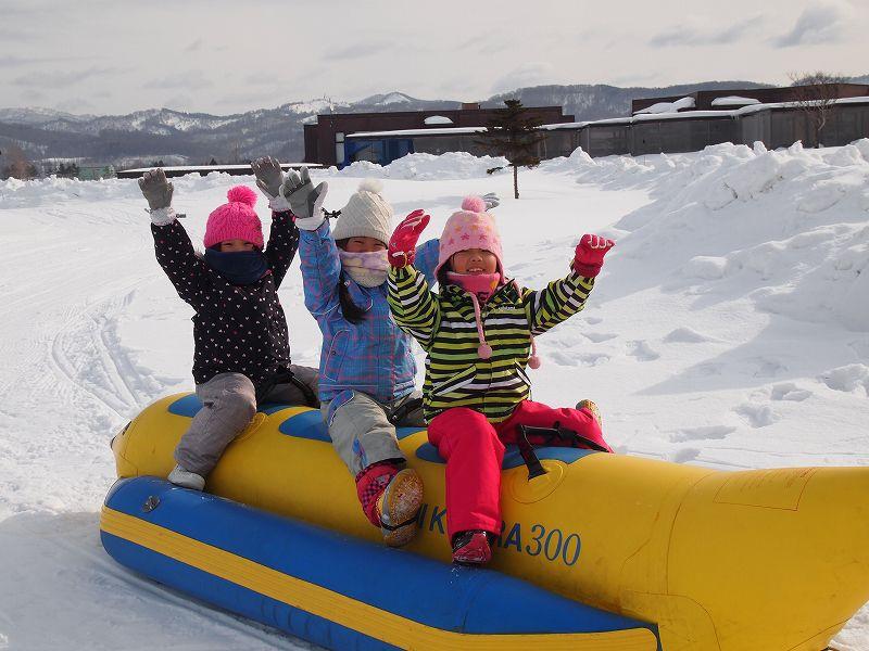 <北海道・スノーアクティビティ>スノーラフティング/GOLFカントリー美唄コーススノーラフティング