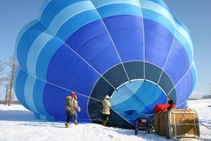 【流氷観光】 熱気球フリーフライト(搭乗記念品付き特別プラン)~フリーフライトで絶景体験!!~【12月~3月】知床の大自然を空から楽しむ!熱気球フリーフライト