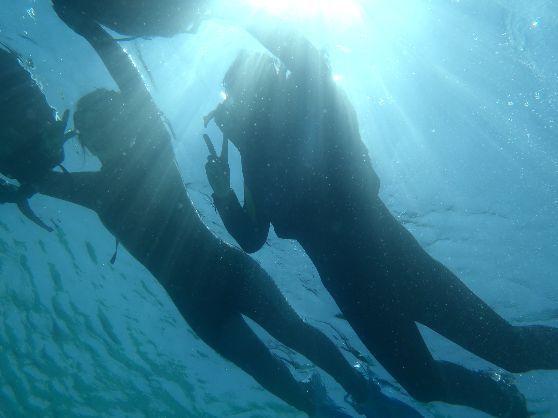 【 美ら海水族館から車で10分の瀬底島☆ 】透明度バツグンの海へ出掛ければ、やんちゃでかわいいお魚たちも大はしゃぎ♪ 美ら海シュノーケリングツアー<<ビーチシュノーケル>> 初心者でも安心♪ 透明度バツグンの瀬底の海でシュノーケル☆
