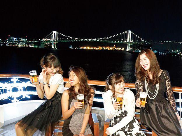 <サンセットクルーズ>ビア&カクテル/シンフォニー東京湾クルーズ(16:20~18:20)ビア&カクテル/シンフォニーのサンセットクルーズ