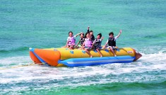 【ムーンビーチでマリンプレイ】おすすめ!3種目 お得プラン★★Aコース 午前【ヨウ島シュノーケリング&エコツアー/ジェットスキー/ドラゴンボート】