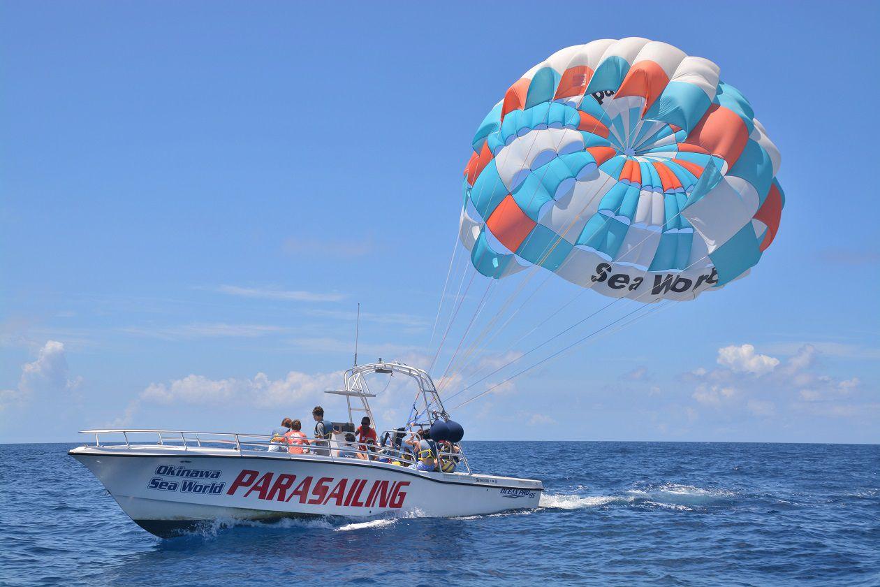 【北部発】ロープの長さ200m 美ら海パラセーリング!【TOTAL MARINE PRODUCE Sea World】【北部発】美ら海パラセーリング!! (10:00発)
