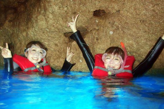 沖縄青の洞窟専用ボートで行くシュノーケル(^O^)/沖縄 青の洞窟 専用ボートで行くュノーケリング 【08:00にお店集合プラン】