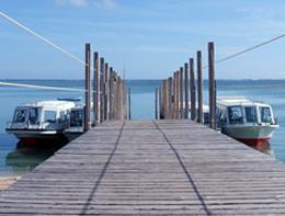 遠浅のみーばるビーチでグラスボートみーばるビーチでグラスボート