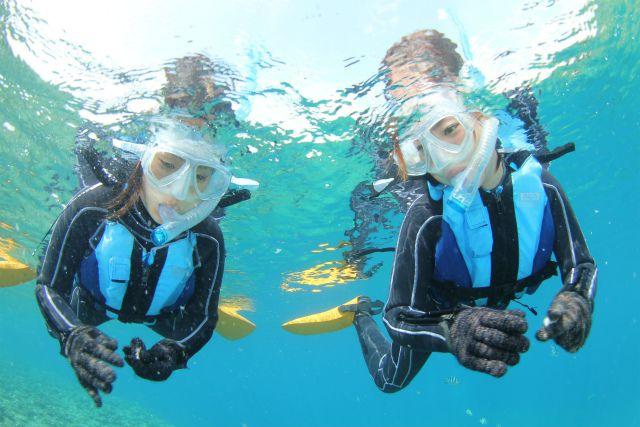 初めての方・泳げない方でも大丈夫!ボートで楽々♪青の洞窟シュノーケリングボートで楽々♪青の洞窟シュノーケリング<8:00集合>