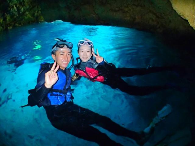 【地域共通クーポン・可】【3歳~】無料特典いっぱい★熱帯魚と青の洞窟シュノーケリング【8:30】熱帯魚と青の洞窟シュノーケリング