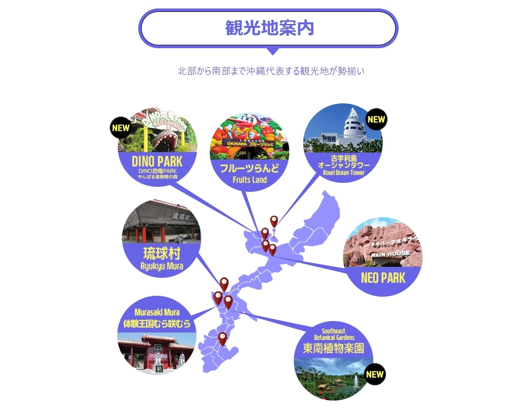 [観光地7ヵ所入場] GOGOPASS!!【7つの観光地】OKINAWA PLAYER GOGOPASS!!