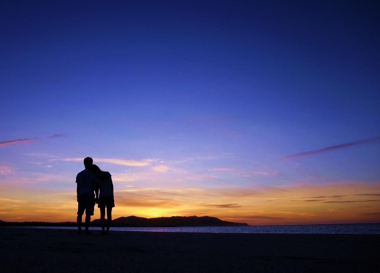 <久米島> はての浜サンセットプラン(夕方出発)はての浜 サンセット