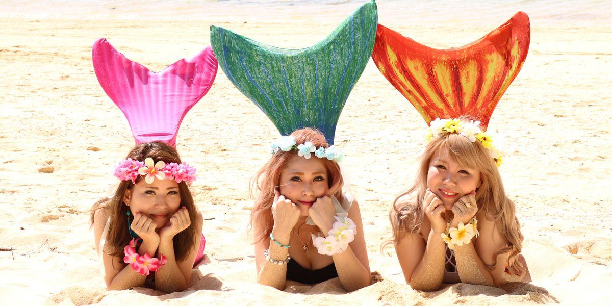 <沖縄/浜比嘉島・マーメイドフォト>マーメイドフォト浜比嘉ビーチマーメイドフォト浜比嘉ビーチ