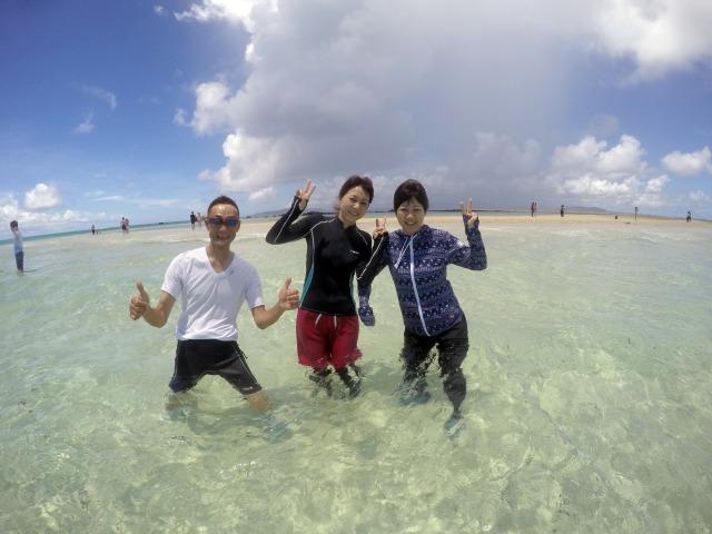 現れるのは干潮のときだけ!美しすぎるビーチ『幻の島』ツアー【幻の島】半日満喫シュノーケリング 午前コース