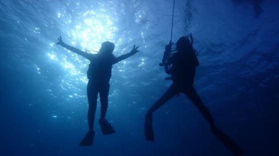 【体験ダイビング/ボートエントリー】 洞窟やアーチも楽しめ美しいサンゴ礁をみながらダイビング!【ボート体験ダイビング1回・午前】 美しい宮古島の海をボート行く体験ダイビング