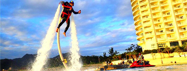【沖縄・本部】塩川ビーチで遊ぼう!ジェットパック 体験コース(30分)【9:00出発】ジェットパック 体験コース(30分)