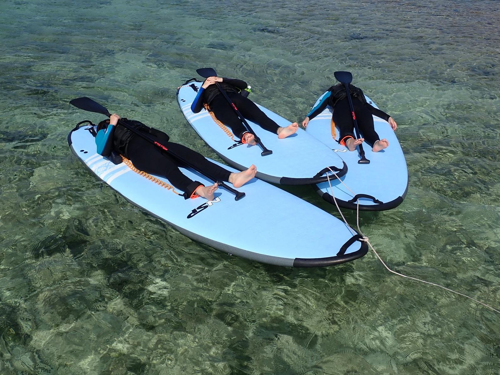 注目度&人気No1アクティビティのスタンドアップパドルボードと沖縄の海遊びの定番シュノーケリングが一緒に楽しめるお得なセットプラン♪親切・丁寧にレクチャーいたしますのでご安心ください♪沖縄本島北部・山原でSUPとシュノーケリングのセットプラン♪ 9:00~