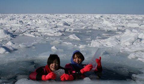 Board an icebreaker ship and experience a Drift Ice Walk