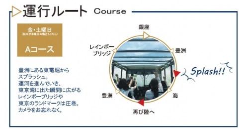 スカイダック銀座Aコースマップ