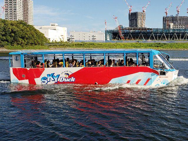 【銀座乗車】スカイダック東京湾クルーズ ~GINZA SIXにてフレンチコース6品のお食事付き~