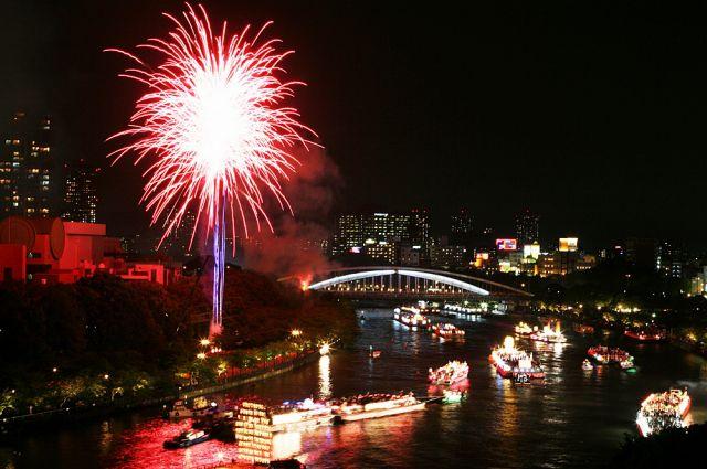 [大阪 天神祭・クルーズ] 船上から花火...の写真