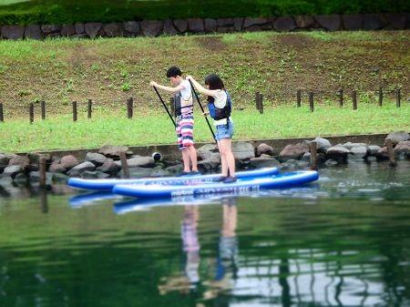 都内でできる都市型アウトドア☆スタンドアップパドルボート「SUP」体験!