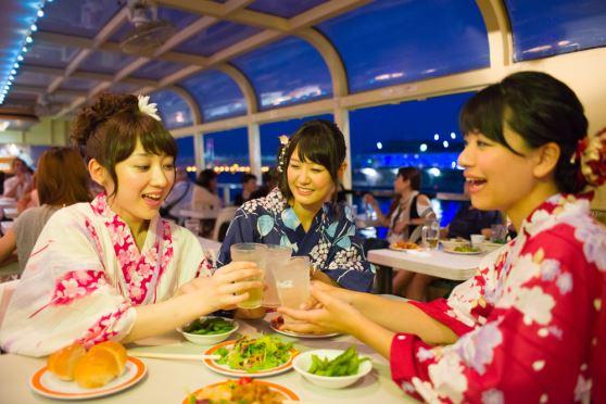 横浜港納涼船 マリーンシャトル♪船上ビアガーデン「サマーナイトクルーズ」
