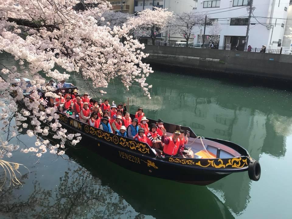 【横浜・日ノ出桟橋出航】エンジン付きボートの新造船「ベネチア号」でいく!春らんまん・大岡川桜クルーズ