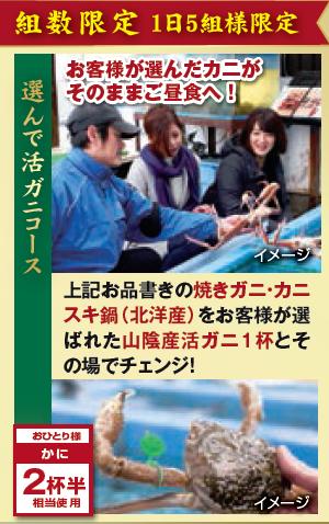 レイクサイド琴引★1日5組限定★【選んで活ガニ!!】