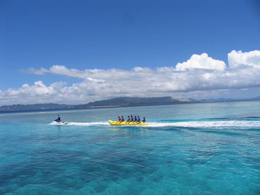 水納島日帰り海水浴