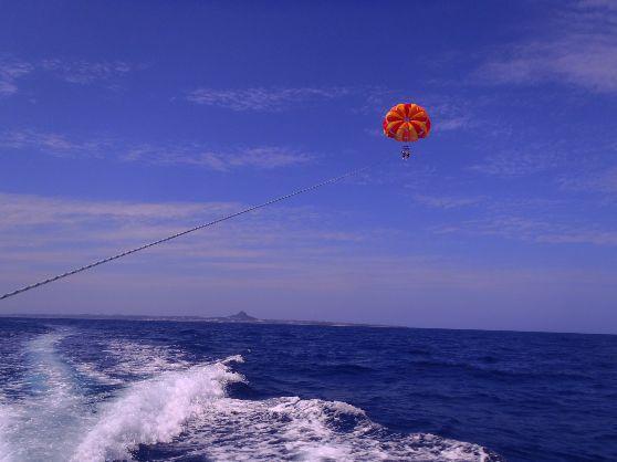 [パラセール&ジェット体験] 沖縄の海で風を感じよう♪