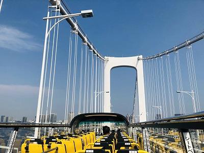 2階建てオープントップバスで東京都内、自由に乗り降り!【スカイホップバス】