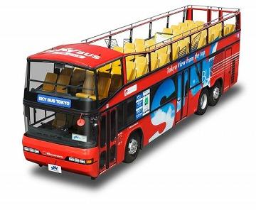 2階建てオープンバスで観光