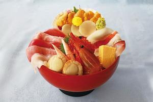 【H3011】ひたち海浜公園もこもこコキアと那珂湊こぼれ海鮮丼