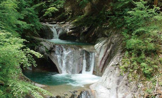 【H578M】トレッキングツアー/エメラルドグリーンに圧巻!西沢渓谷トレッキングとほったらかし温泉