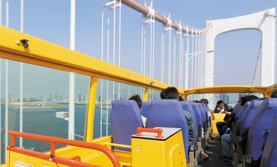 【A185】【2階建てオープンバス】TOKYOパノラマドライブ(レインボーブリッジ&銀座)