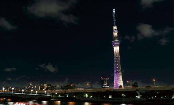 【B671】夜の東京スカイツリー(R)と至福のディナーブッフェ