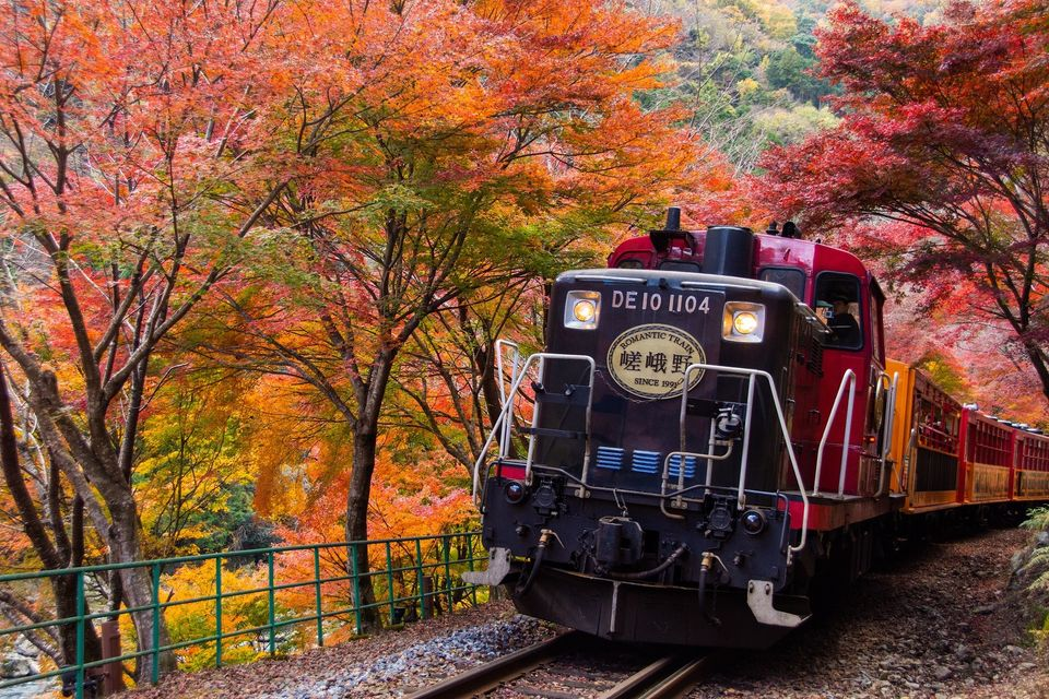 嵯峨野トロッコ列車と嵐山散策