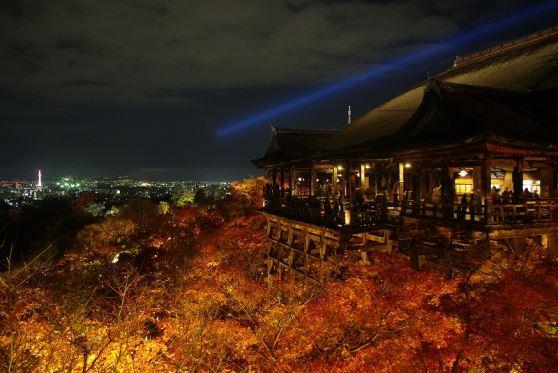 <NL>ライトアップ京の紅葉<br>高台寺・清水寺