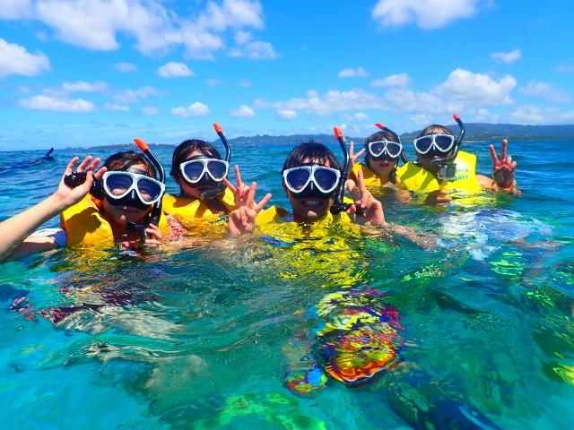 水納島海水浴+ボートシュノーケリング