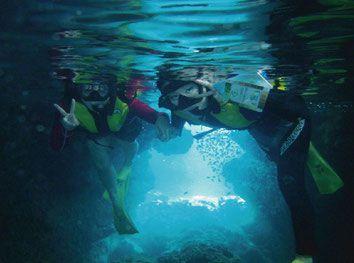 青の洞窟シュノーケリングツアー