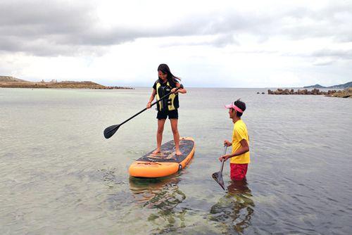 沖縄北部エリアで初めてのSUP体験コース
